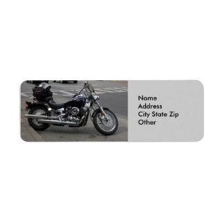 Motocicleta de las etiquetas de dirección