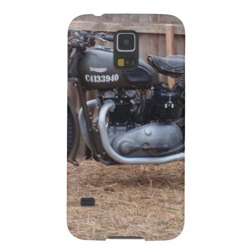 Motocicleta de los militares del vintage carcasa de galaxy s5