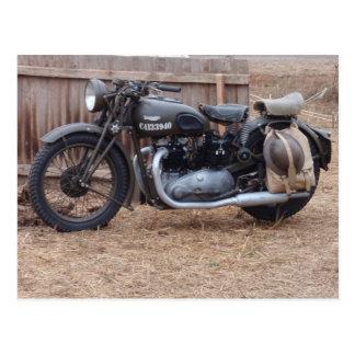 Motocicleta de los militares del vintage tarjetas postales