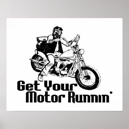 Motocicleta de Runnin del motor Impresiones