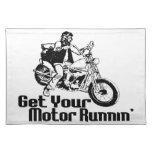 Motocicleta de Runnin del motor Manteles