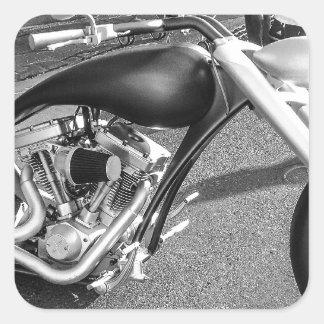 Motocicleta de Spaceage Pegatina Cuadrada