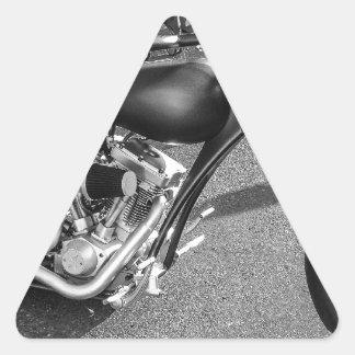 Motocicleta de Spaceage Pegatina Triangular