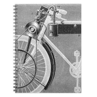 Motocicleta de Werner, 1898 Libros De Apuntes Con Espiral