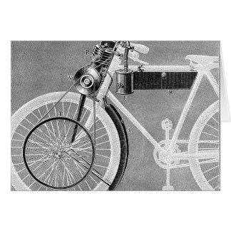 Motocicleta de Werner, 1898 Tarjeta Pequeña