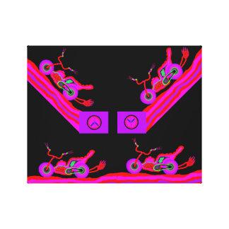 Motocicleta del choppr de las señoras rosadas impresión en lona estirada