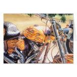 """Motocicleta del """"EL Diablo"""" en la acuarela del des Tarjetas"""