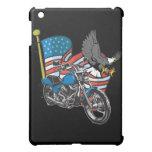 Motocicleta del motorista de Eagle de las banderas
