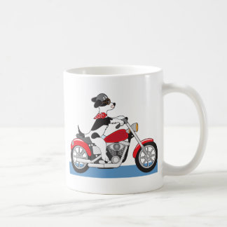 Motocicleta del perro tazas