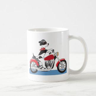 Motocicleta del perro taza de café