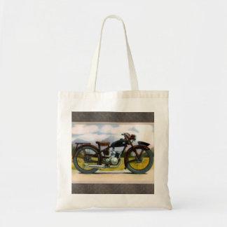 Motocicleta del vintage de la acuarela bolsa