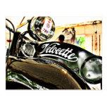 Motocicleta del vintage de la serie de Velocette M Tarjeta Postal