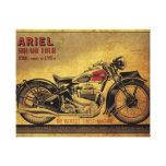 Motocicleta del vintage del cuadrado cuatro de Ari Impresion De Lienzo