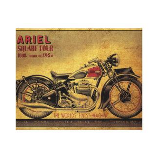 Motocicleta del vintage del cuadrado cuatro de Ari Lienzo Envuelto Para Galerias