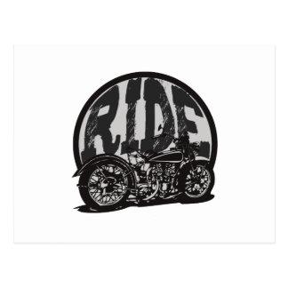 Motocicleta del vintage del paseo postales