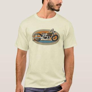 Motocicleta del vintage playera