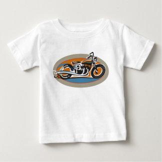 Motocicleta del vintage playera de bebé