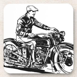Motocicleta del vintage posavasos