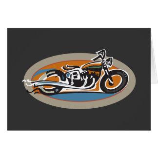 Motocicleta del vintage tarjeta de felicitación