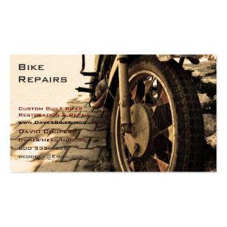 Motocicleta del vintage tarjetas de visita