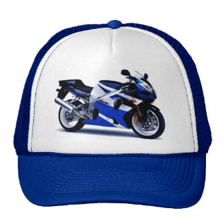 Motocicleta deportiva gorros bordados