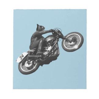 motocicleta divertida del vintage del gato blocs