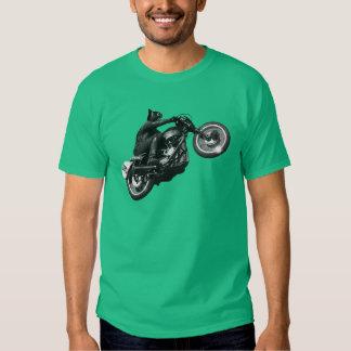 motocicleta divertida del vintage del gato camisas