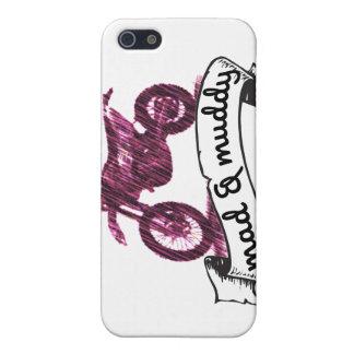 Motocicleta enojada y fangosa de la bujía métrica iPhone 5 carcasa