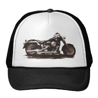 Motocicleta gorda clásica del muchacho gorros