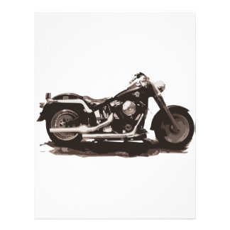 Motocicleta gorda clásica del muchacho membrete personalizado