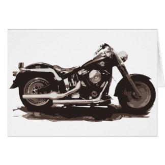 Motocicleta gorda clásica del muchacho tarjeta de felicitación