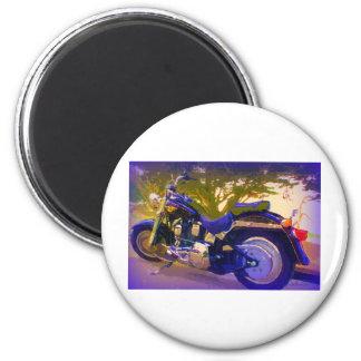 Motocicleta Harley-FatBoy-1998 Imán Redondo 5 Cm