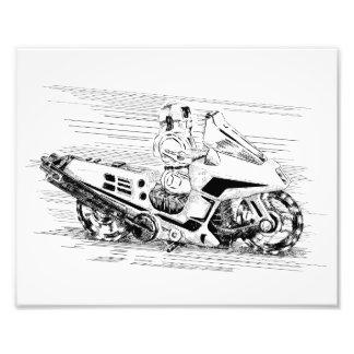 Motocicleta/helicóptero retros del juguete fotografía