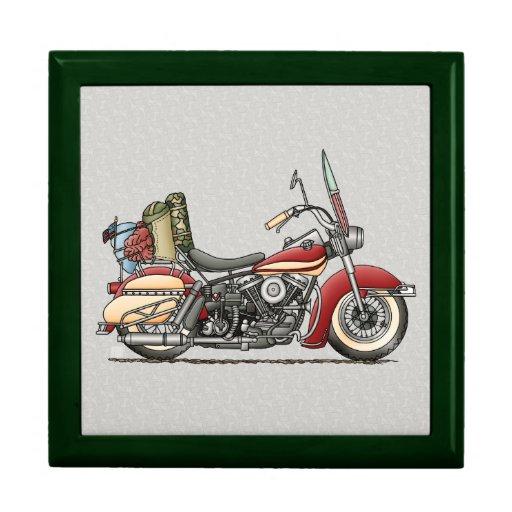 Motocicleta linda caja de joyas