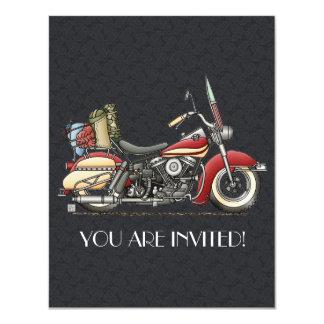 Motocicleta linda invitación 10,8 x 13,9 cm