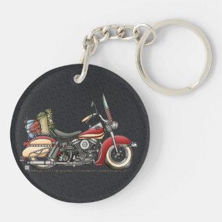 Motocicleta linda llavero redondo acrílico a doble cara