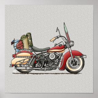 Motocicleta linda póster