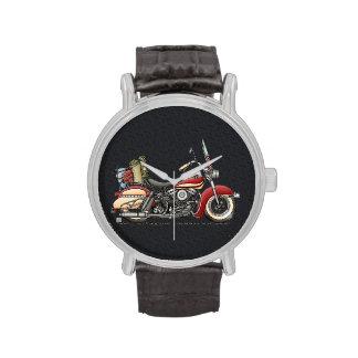 Motocicleta linda reloj