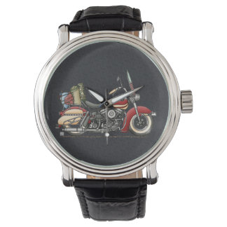 Motocicleta linda relojes de pulsera
