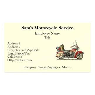 Motocicleta linda tarjetas de visita