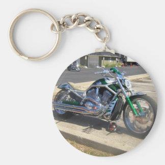 motocicleta llavero redondo tipo pin