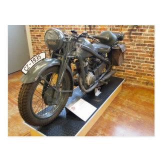 Motocicleta militar del vintage CZ-1935 Postal