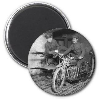 Motocicleta militar EMT, los años 10 Imán Redondo 5 Cm