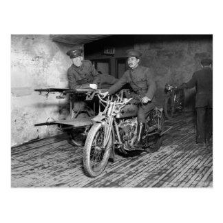 Motocicleta militar EMT, los años 10 Postal