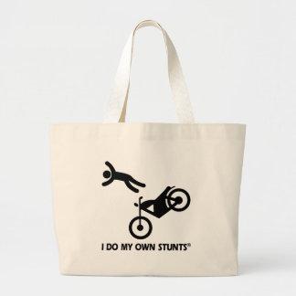 Motocicleta mis propios trucos bolsa tela grande