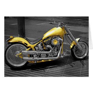 Motocicleta modificada para requisitos particulare felicitación