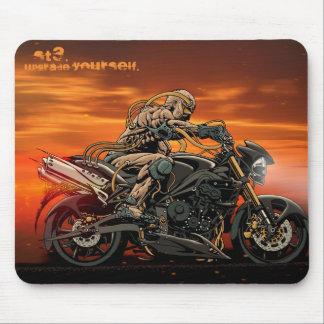 Motocicleta Mousepad triple