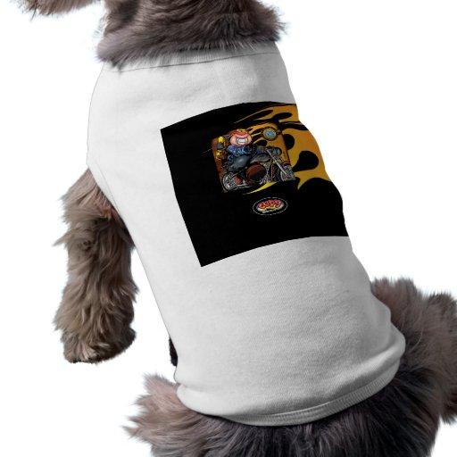 Motocicleta negra de CUPY Camisa De Perro