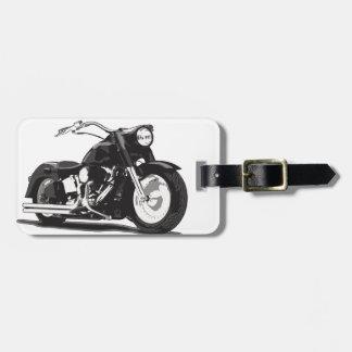 Motocicleta negra de Harley Etiquetas Bolsas