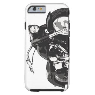 Motocicleta negra de Harley Funda De iPhone 6 Tough